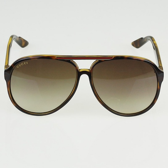 1eedb60337f Gucci Accessories - GUCCI Aviator Sunglasses - Tortoise